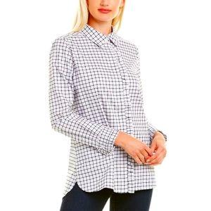 BB dakota semi transparent check long shirt size small
